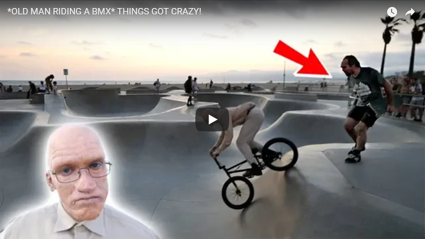 OLD MAN RIDING A BMX: RYAN TAYLOR GOES NUTS