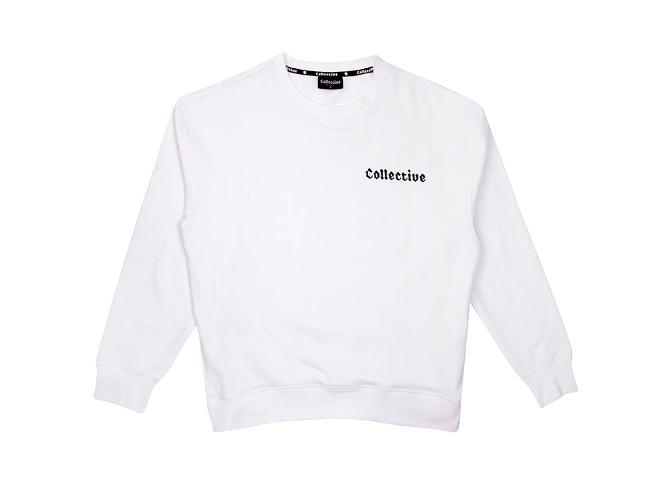 COLLECTIVE BIKES 'CLASSIC' SWEATSHIRT - WHITE