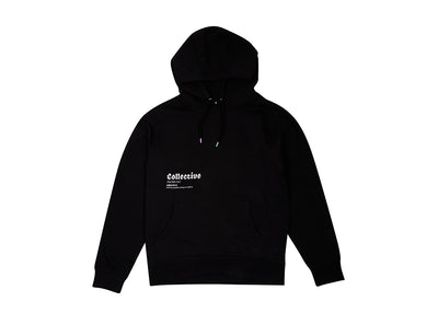 COLLECTIVE BIKES 'DEFINITION' HOODIE - BLACK