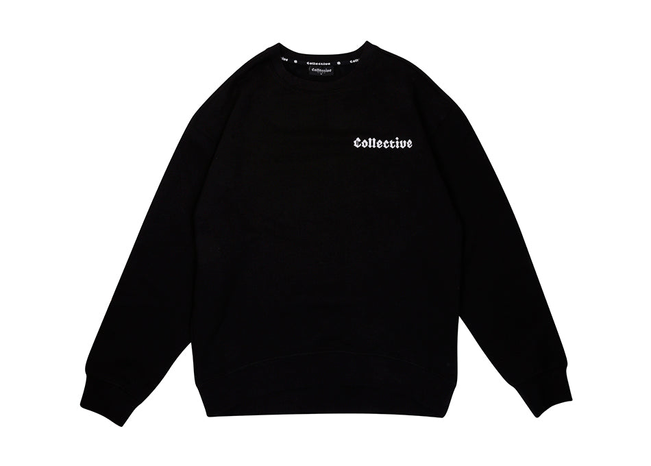 COLLECTIVE BIKES 'CLASSIC' SWEATSHIRT - BLACK