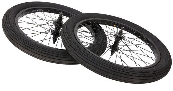 "Collective Bikes 20"" BMX Wheel Set Black - Collective Bikes"