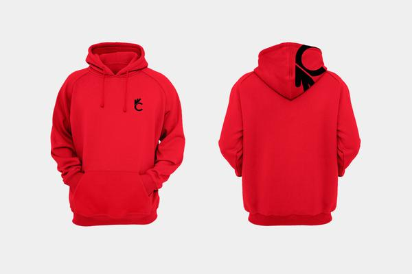 CERTIFIED 'CLASSIC' HOODIE - RED - Collective Bikes
