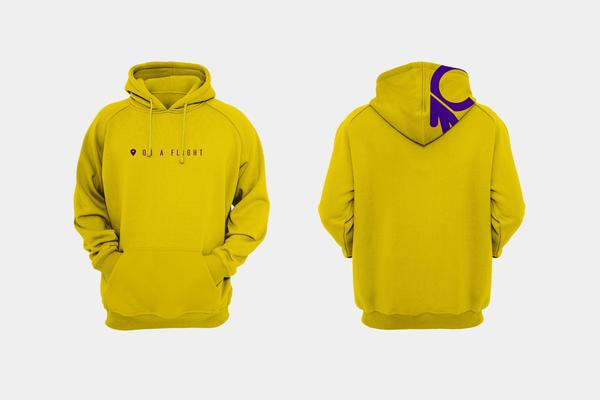 CERTIFIED 'ON A FLIGHT' HOODIE - YELLOW - Collective Bikes