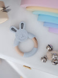 'GUMMY' TEETHING RING Bunny Grey