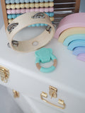 'GUMMY' TEETHING RING Elephant Mint Green