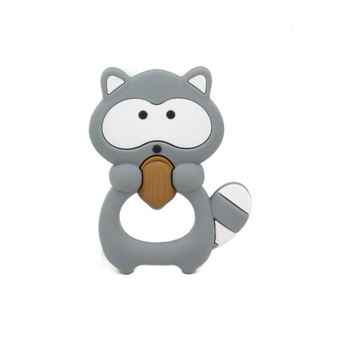 RASCAL RACCOON SILICONE TEETHING TOY