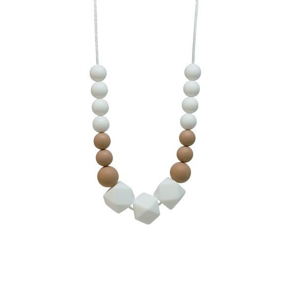 NECKLACE, SASS - WHITE