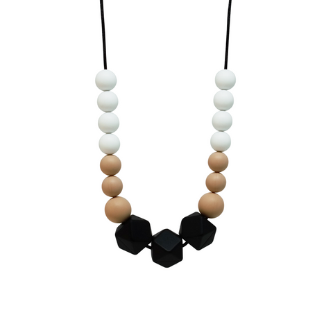 NECKLACE, SASS - BLACK