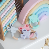 'GUMMY' TEETHING RING Koala Pink