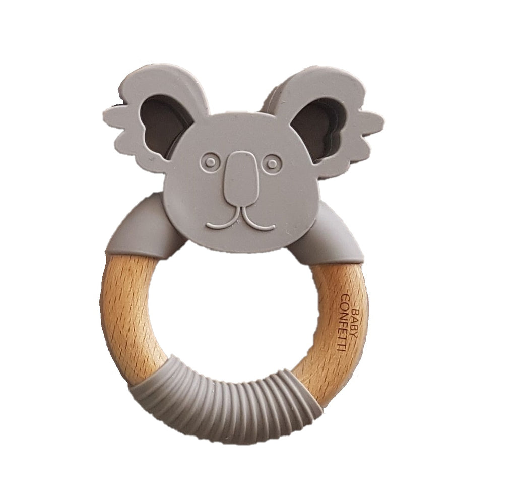 'GUMMY' TEETHING RING Koala Graphite
