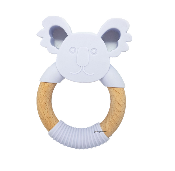 'GUMMY' TEETHING RING Koala Periwinkle