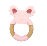PREORDER 'GUMMY' TEETHING RING Koala Pink