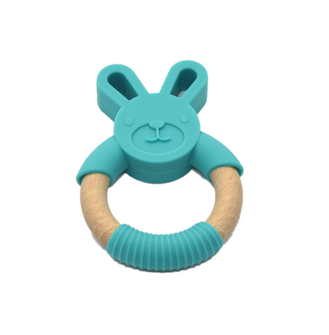 'GUMMY' TEETHING RING Bunny 'Ocean'