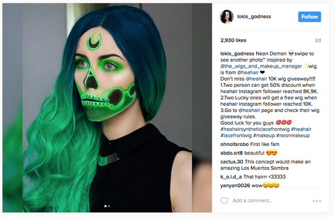 Instagram Neon Makeup