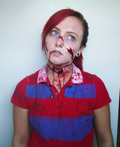 Bloody Makeup Look