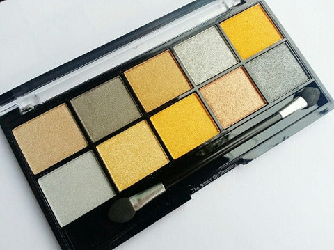 Yellow eyeshadow pallet