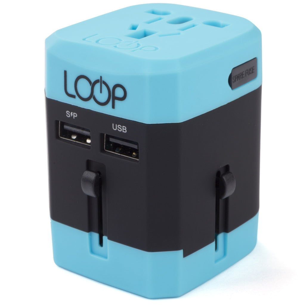 World Adapter Plug 3.0 with Dual USB Charging Ports