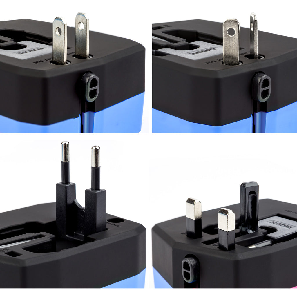 World Travel Adapter 3.0 with Power Bank & Dual USB Charging Ports