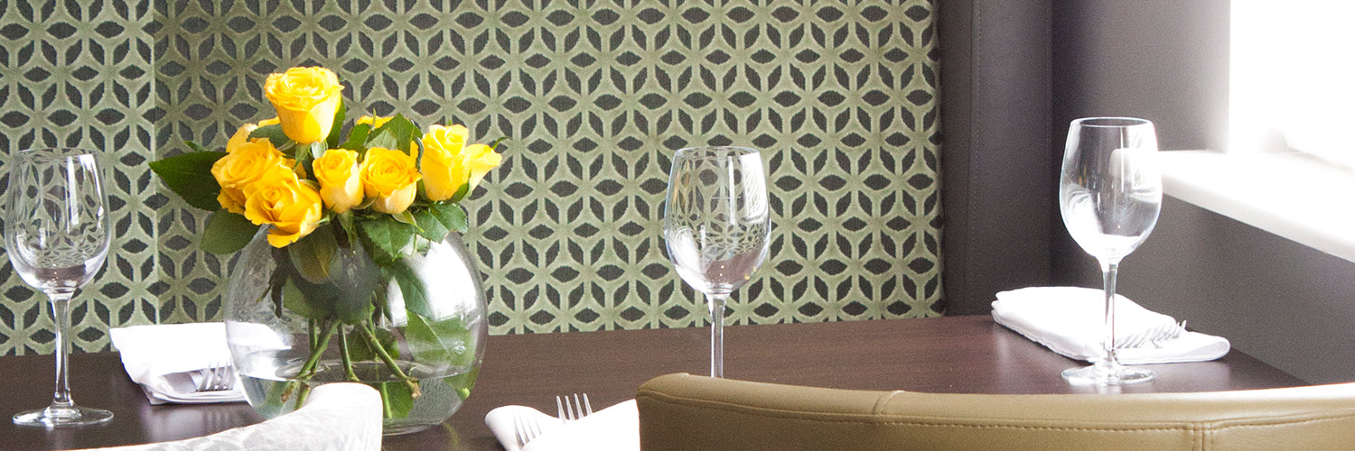 split fabric green hotel dining furniture