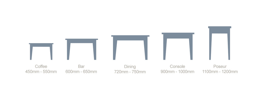 lugos table height guide