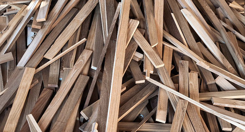 waste wood from sustainable furniture manufacture