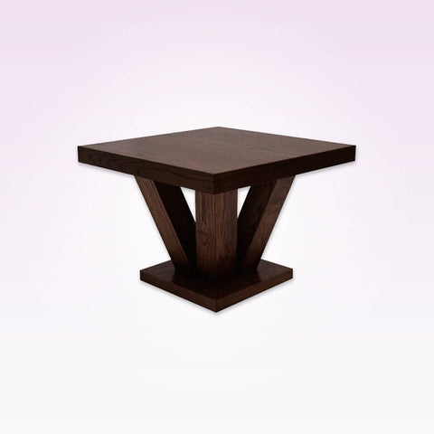 Achina small modern dining table with sturdy chunky under frame 1100