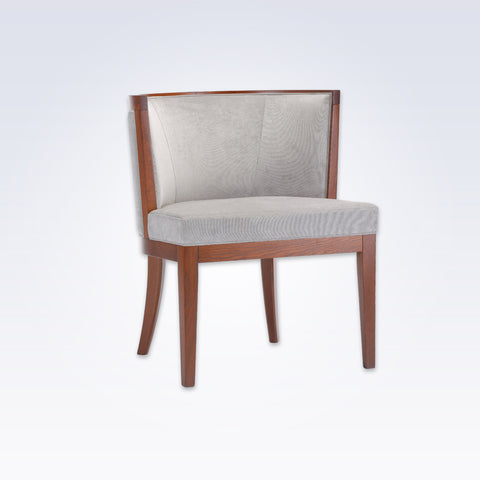 Adele Grey Tub Chair With Brown Show Wood Legs And Curved Back PO01 TC1 ...