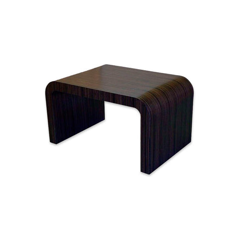 Agia dark wood curved bar table. 1101