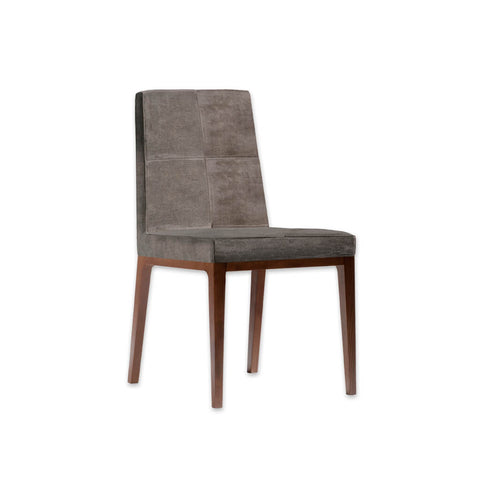 Arisa Brown Velvet Dining Chair with Show Wood Plinth and Legs SE02 RC2