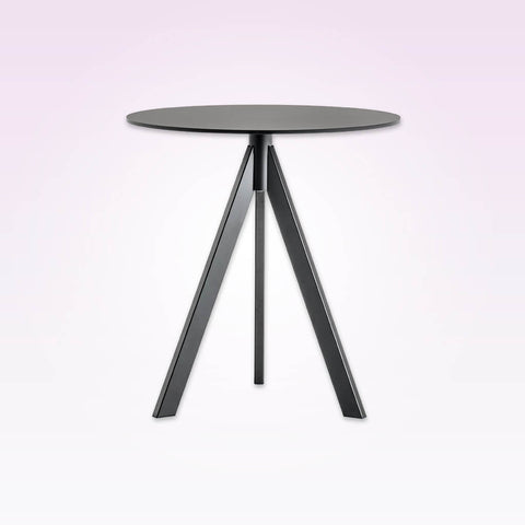 Arki-Base three leg steel grey round dining table ARK3 CT1
