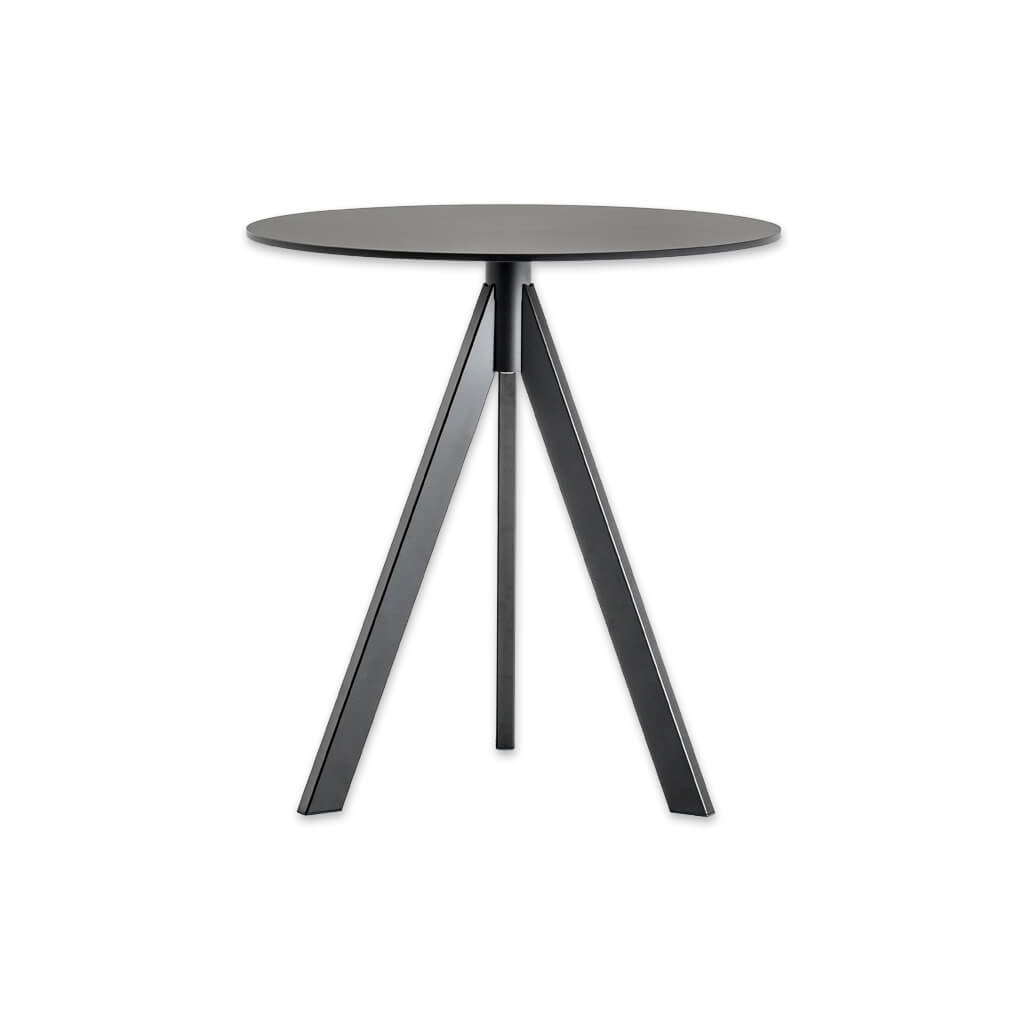 Arki-Base three leg steel grey round dining table ARK3 CT1 - Designers Image