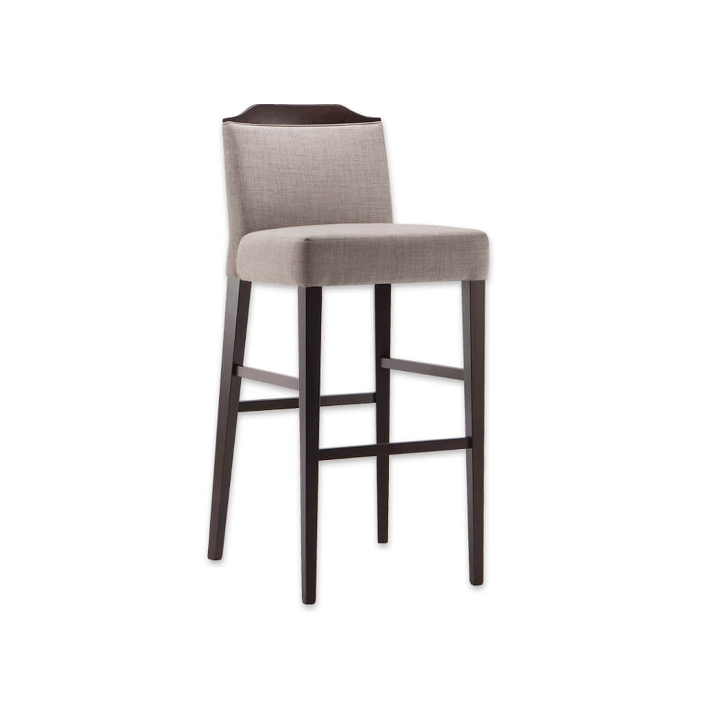 Caesar light brown bar stool with show wood finish to the back and tapered wooden legs  6006 BR1 - Designers Image