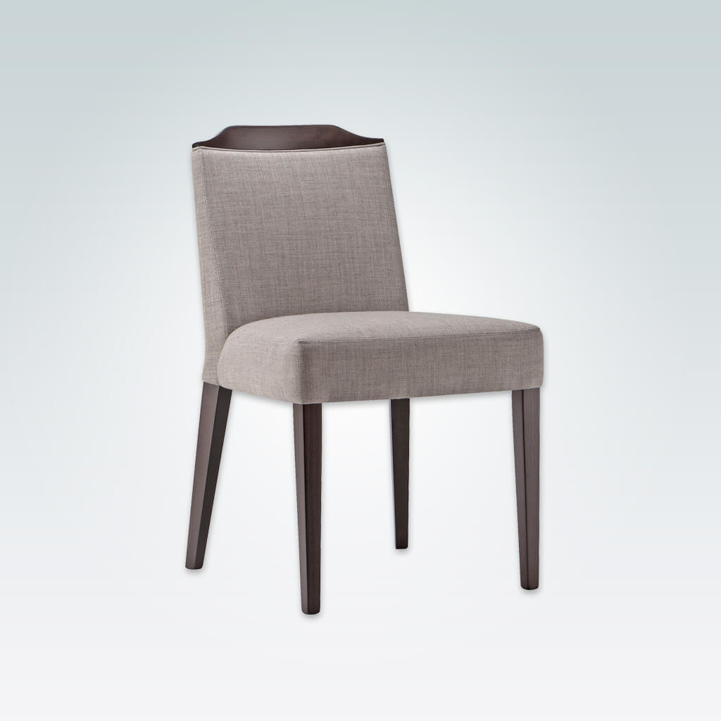 Caesar Fully Upholstered Grey Dining Chair with Show Wood Rail 3012 RC1