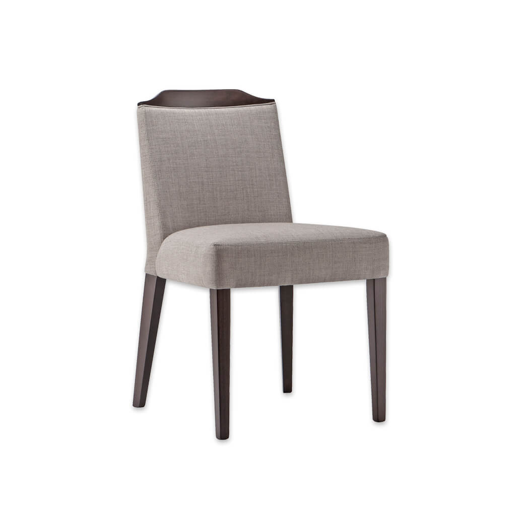 Caesar Fully Upholstered Grey Dining Chair with Show Wood Rail 3012 RC1 - Designers Image