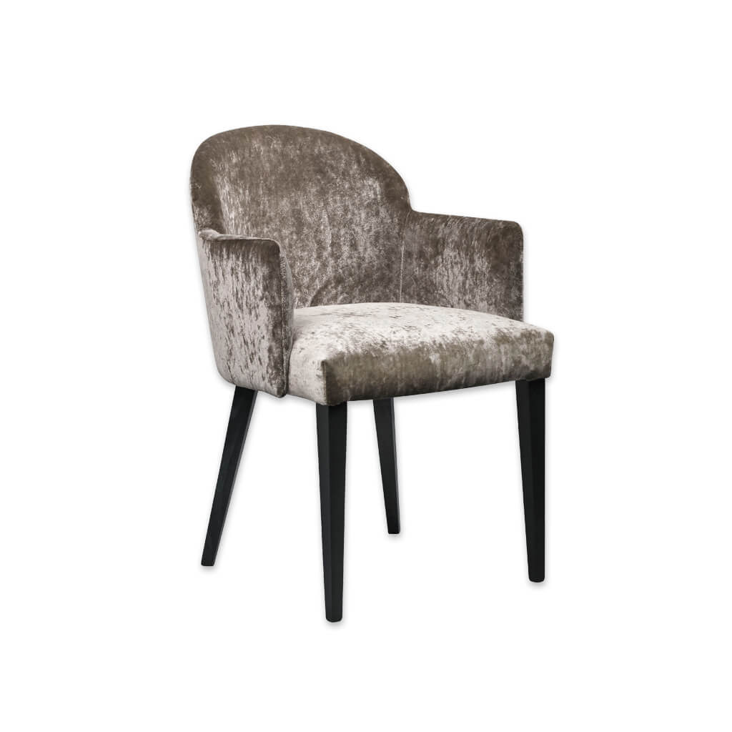 Candi Full Upholstered Brown Velvet Armchair with Round Back 4037 AC1 - Designers Image