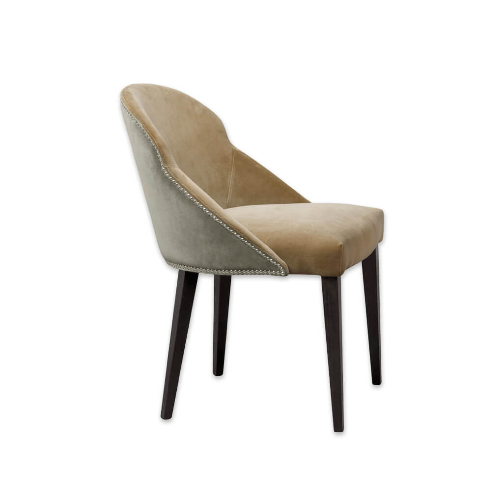 Candi Mustard Dining Chair with Scoop Back and Studding 3067 RC1 - Designers Image