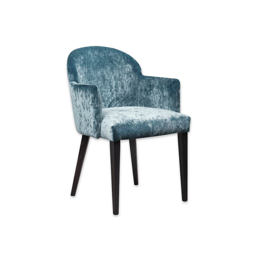 Candi Blue Velvet Tub Chair With Curved Backrest and Deep Padded Seat 2050 TC1 - Designers Image