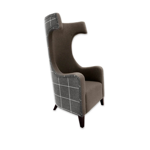 Capture high back accent chairs with tall hammerhead backrest and deep padded cushion 7001 AT2
