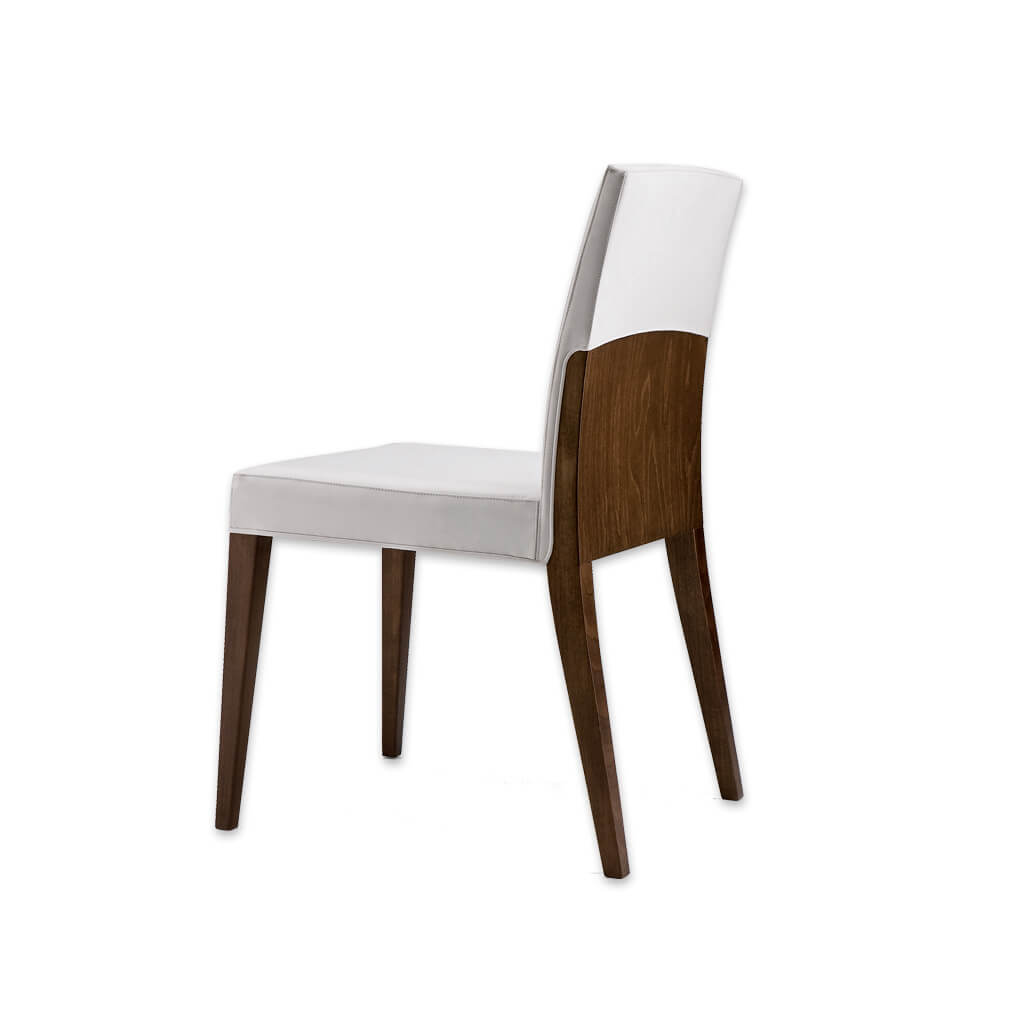 Charme White Wooden Dining Chair  with Fully Upholstered White Seat Pad and Show Wood Frame  3016 RC1 - Designers Image