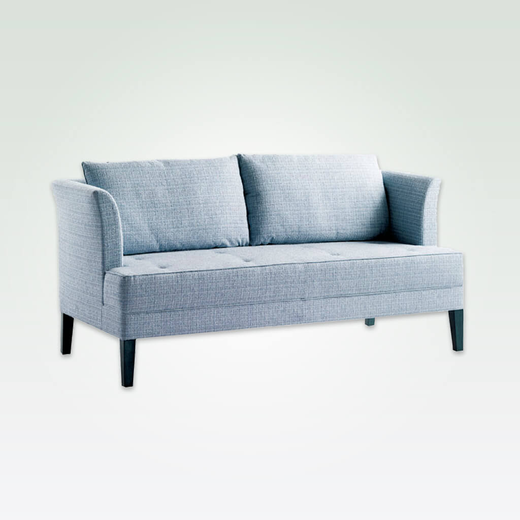 Chelsea light blue fabric sofa with removable cushions to the back and deep padded seat 8009 SF1