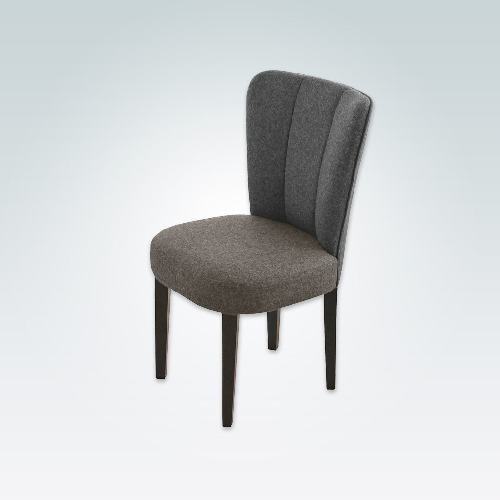 Clark Dark Grey Fabric Dining Chair with Fluted Back 3019 RC1