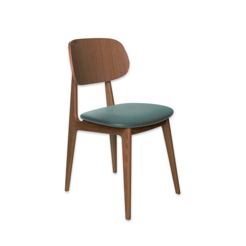 Cori Wooden Open Back Restaurant Chair with Upholstered Seat 3081 RC1