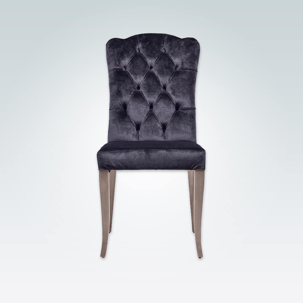 Dali Navy Dining Chair Fully Upholstered with Back Button Detail 3002 RC1