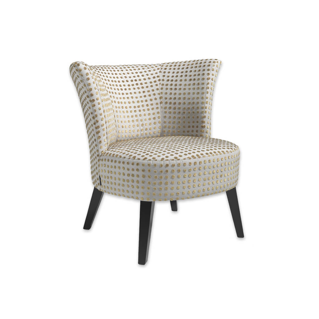 Darcie Spotty Tub Chair With Deep Padded Curved Seat And Backrest 2043 TC1 - Designers Image