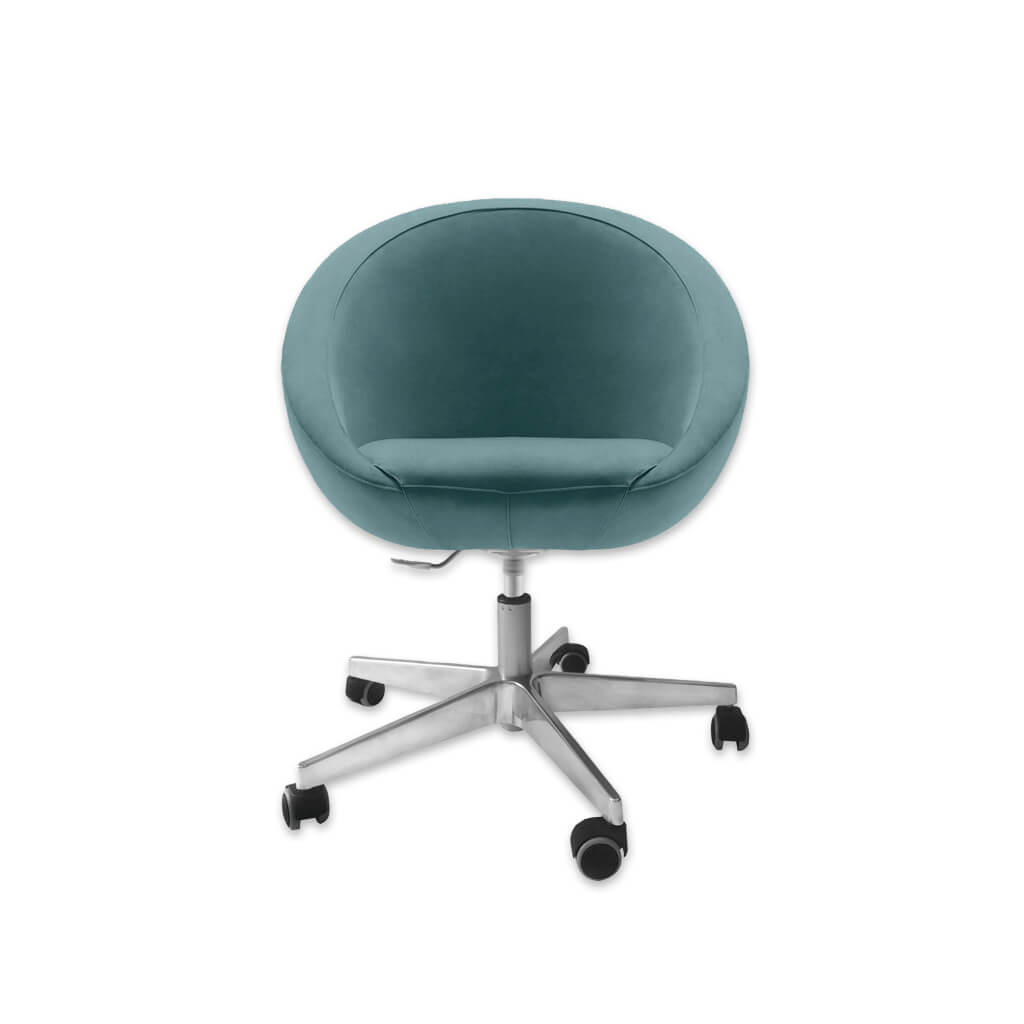 Europa Round Swivel Turquoise Desk Chair with Gas Lift 5007 DC1 - Designers Image