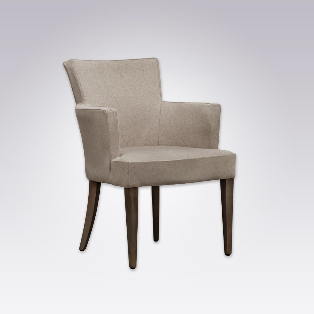 Evelyne Light Brown Fully Upholstered Armchair PO01 AC2