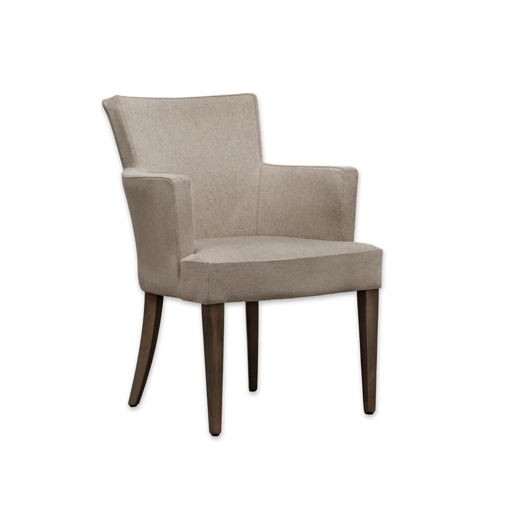 Evelyne Light Brown Fully Upholstered Armchair PO01 AC2 - Designers Image
