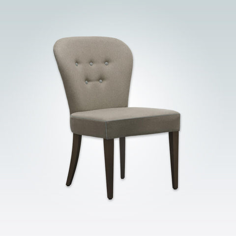 Evelyne Brown and Cream Dining Chair with Button Detail SE04 RC1