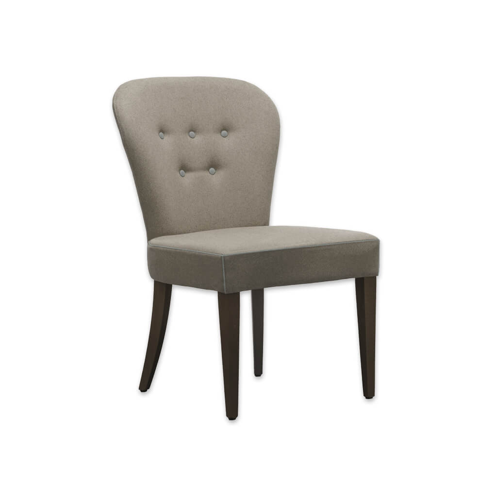 Evelyne Brown and Cream Dining Chair with Button Detail SE04 RC1 - Designers Image