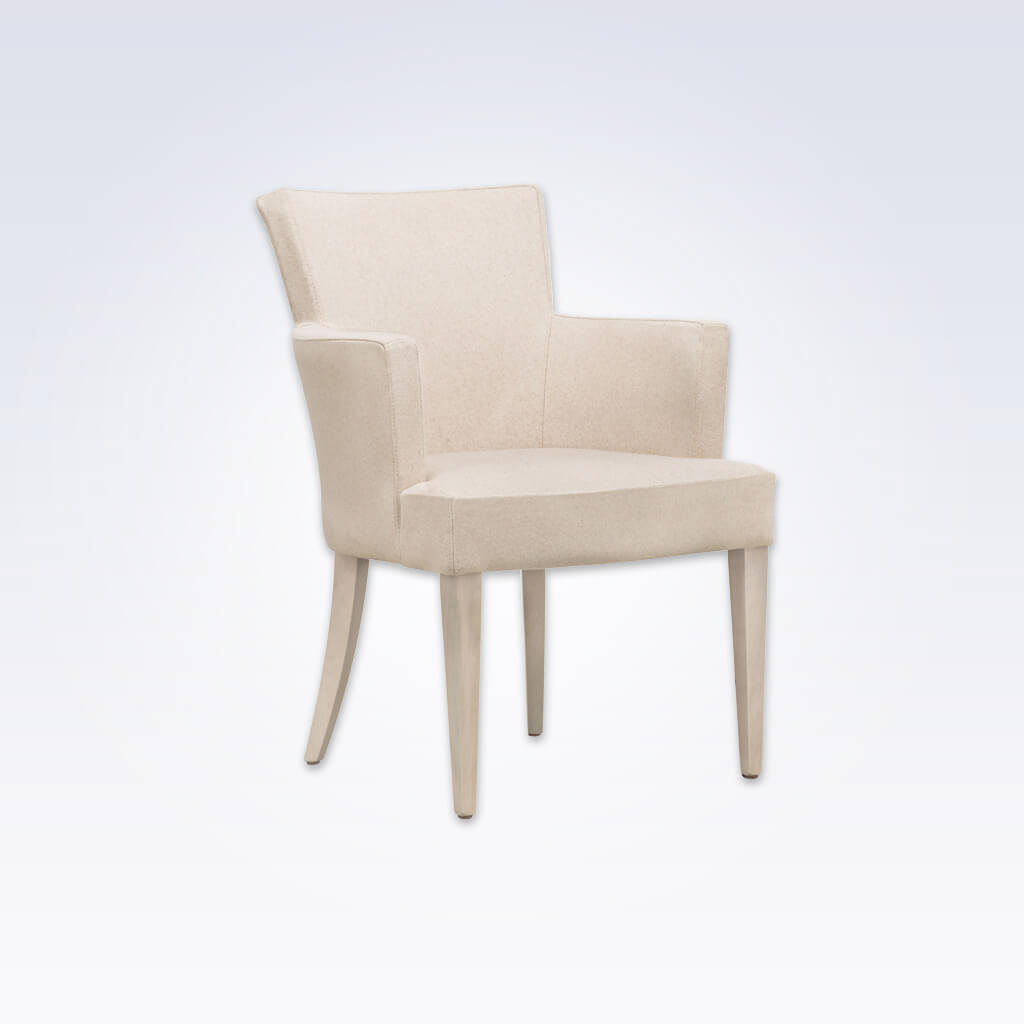 Evelyne Fully Upholstered Beige Tub Chair With Winged Backrest PO01 TC2